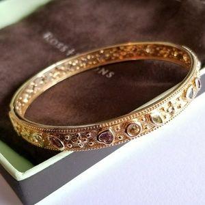 Ross Simons gem vermeil bangle bracelet in box